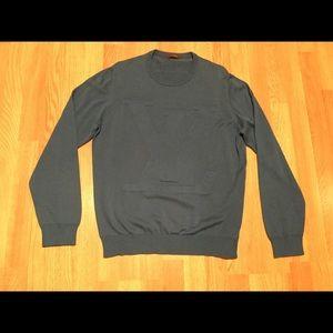 f8f0b15340f2 LV crew neck pullover sweater . Blue color .